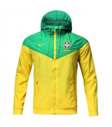 Brazil Yellow Green Windrunner Jacket 2018/2019
